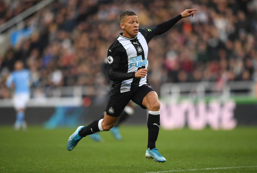 Newcastle player Dwight Gayle.