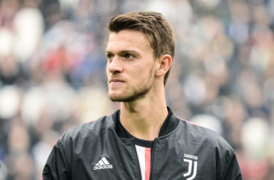 Daniele Rugani of Juventus FC  looks on before the Serie A