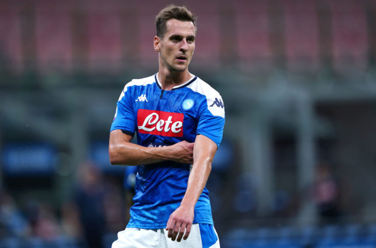 Arkadiusz Milik of Ssc Napoli   during the Serie A  match