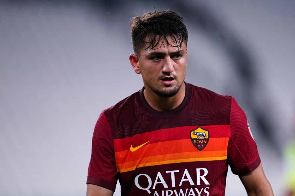 Cengiz Under of As Roma during the Serie A match between