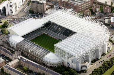 Newcastle United's St James Park: An Aerial View