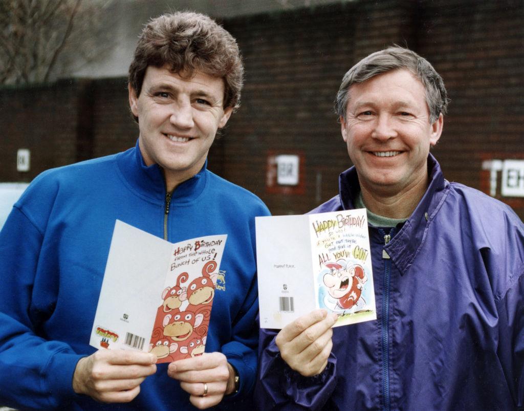 Manchester United manager Alex Ferguson and Steve Bruce