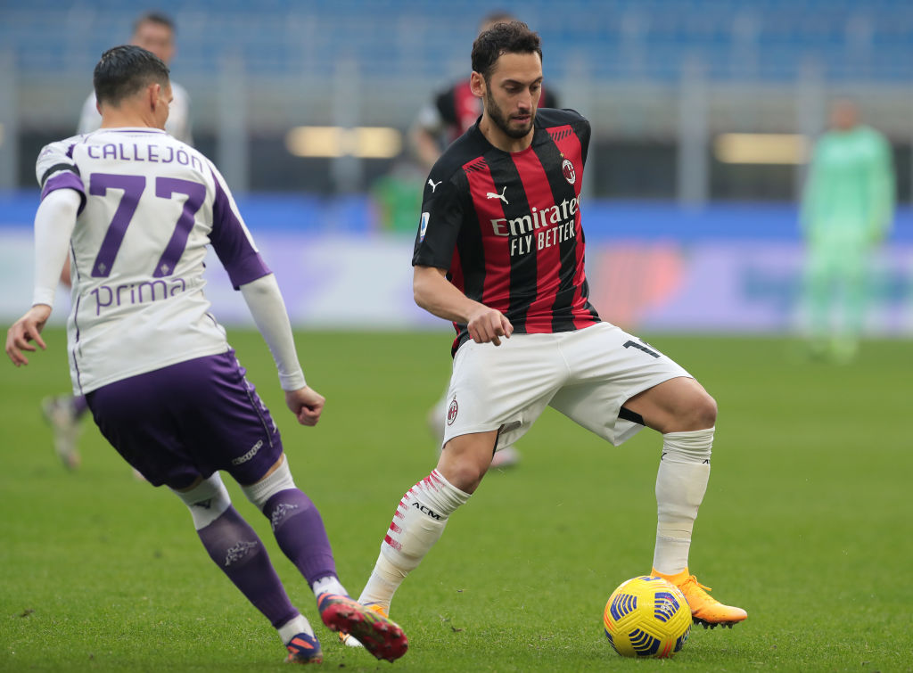 Newcastle target Hakan Calhanoglu of AC Milan