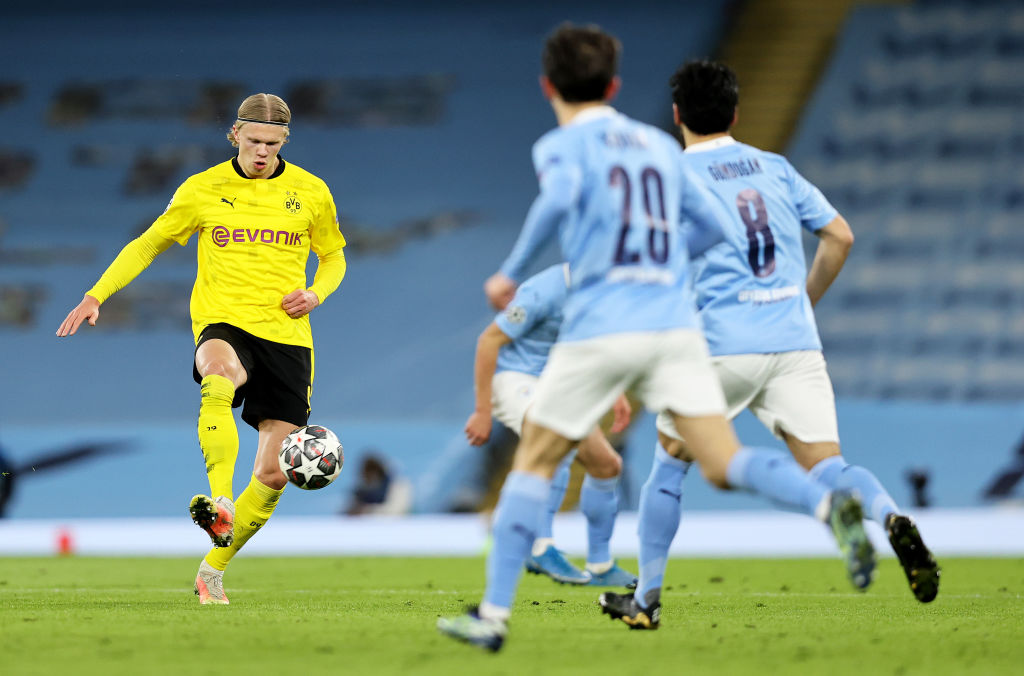 Manchester City v Borussia Dortmund  - UEFA Champions League Quarter Final: Leg One