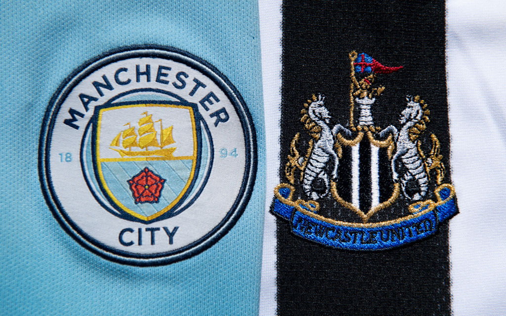 Manchester City and Newcastle United Club Crests