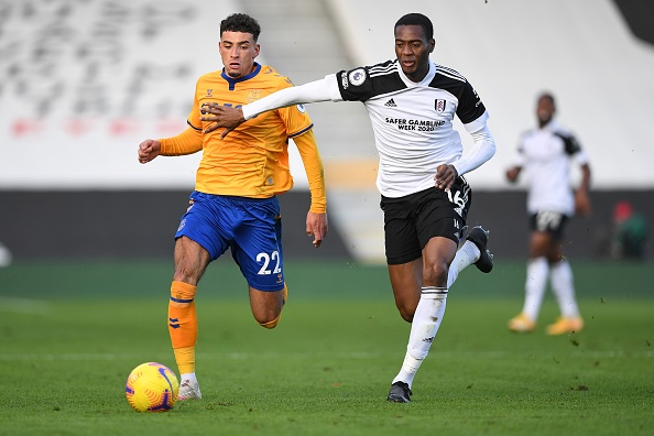 Tosin Adarabioyo vies for possession with Ben Gofrey