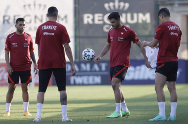 Turkey's National Football Team continues preparations for Euro 2020 in Antalya