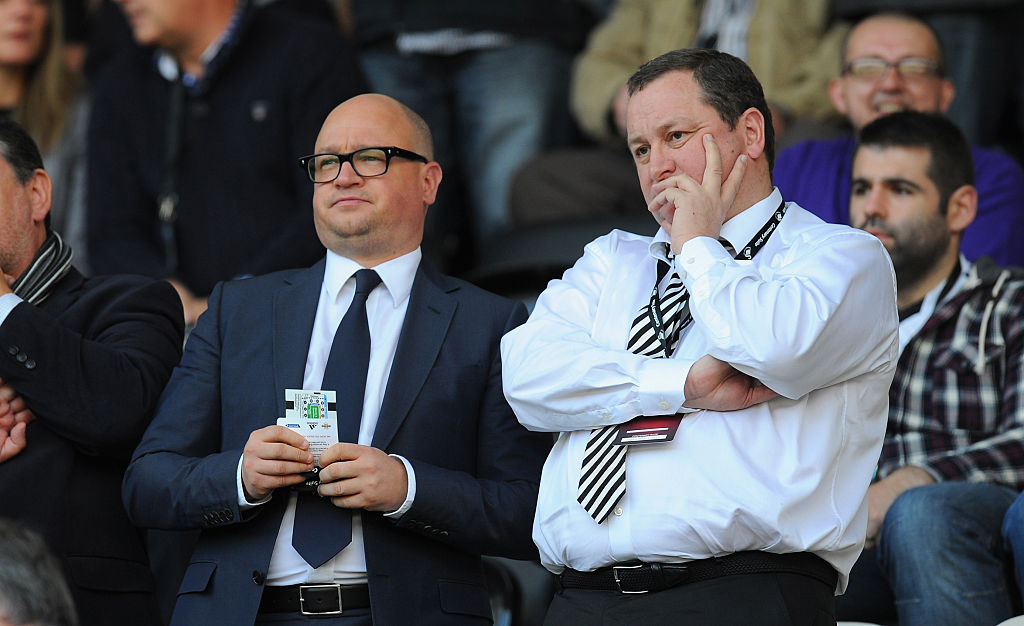 Mike Ashley agreed to the Newcastle takeover last April.