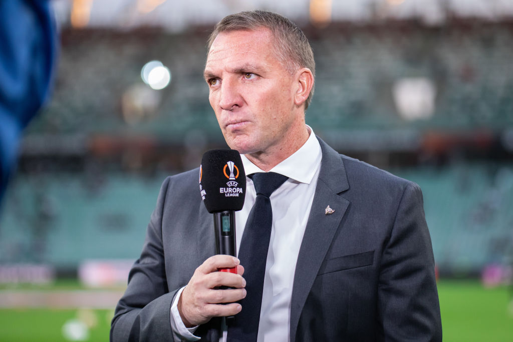 Brendan Rodgers coach of Leicester City FC seen during the