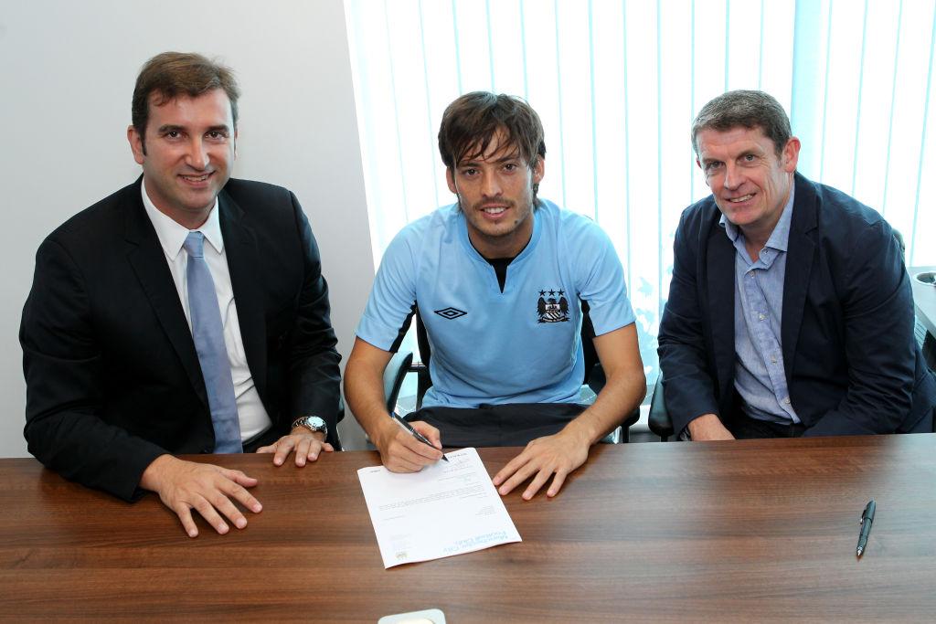 Soccer - Manchester City - David Silva Contract Signing - Carrington Training Ground